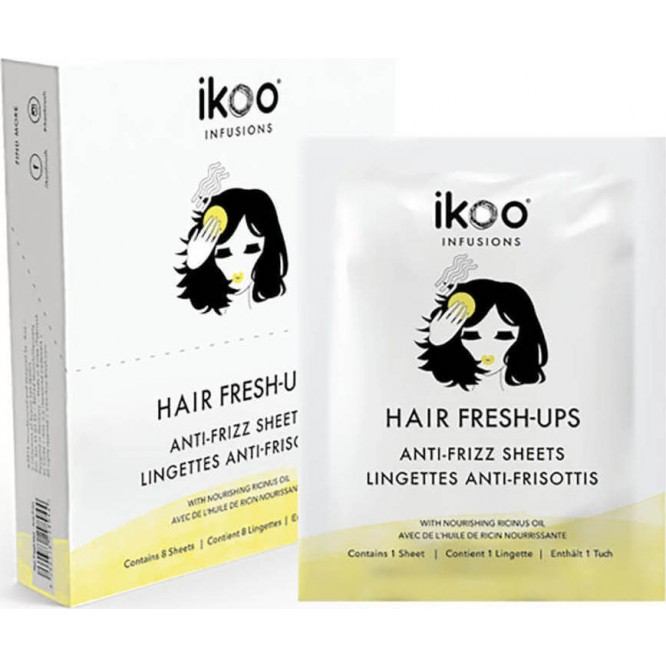 ikoo Ιnfusions Hair Fresh-Ups Anti-Frizz Sheets (8 φακελάκια)
