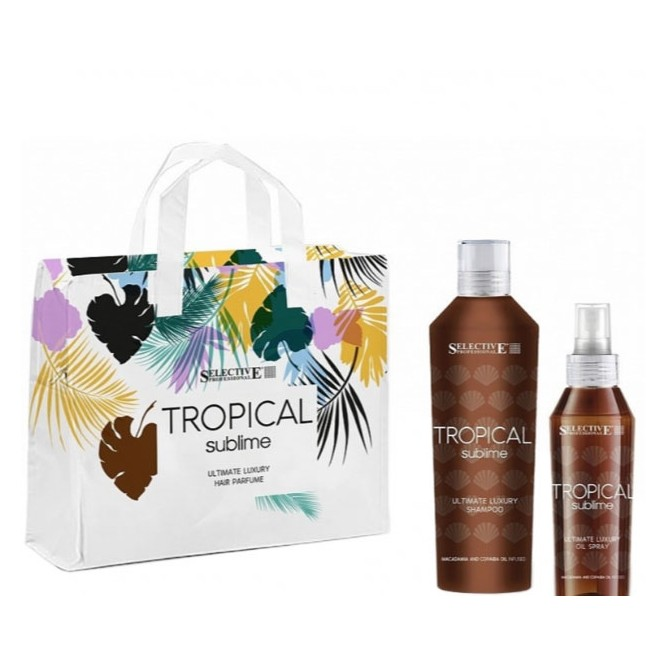 Selective Professional - Tropical Sublime Set (Shampoo 250ml, Protective Oil Spray 125ml & Δώρο Νεσεσέρ Παραλίας)
