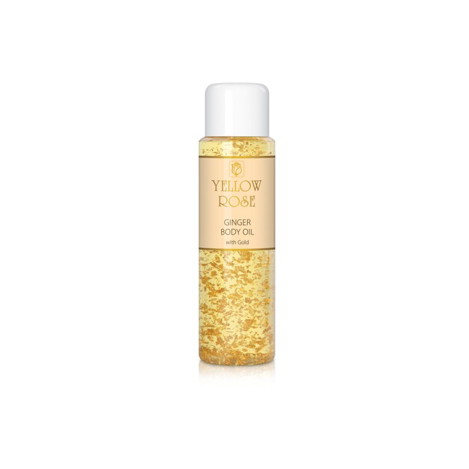 Yellow Rose Ginger Body Oil With 23k Gold (200ml)