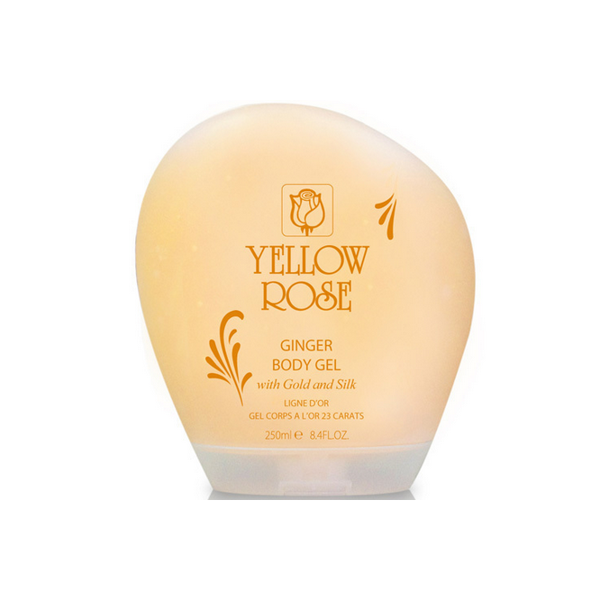 Yellow Rose Ginger Body Gel With Gold and Silk (250ml)