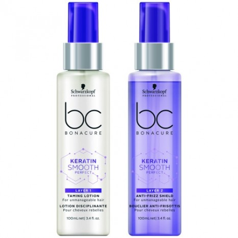 Schwarzkopf Professional BC Bonacure Keratin Smooth Perfect Layering Treatment Duo (2x100ml)