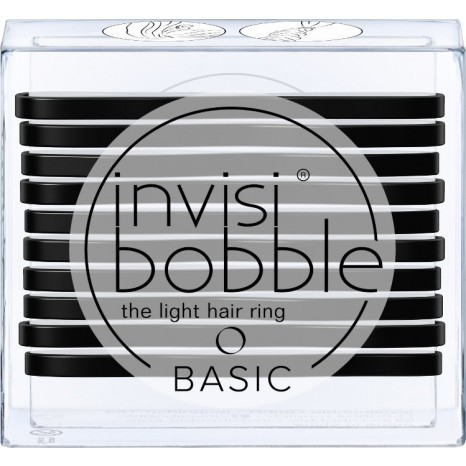 Invisibobble Basic The Light Hair Ring - True Black (10τμχ)