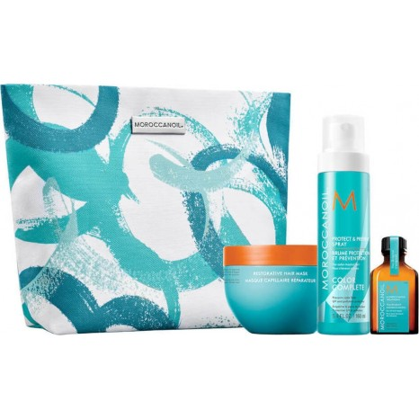 Moroccanoil Dreaming of Repair Summer Set (Protect & Prevent Spray 160ml, Restorative Hair Mask 250ml, Treatment 25ml & Δώρο Limited-Edition Cosmetic Bag)