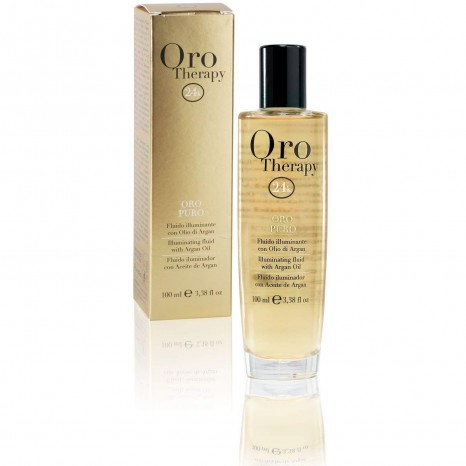 Fanola Oro Therapy 24k - Illuminating Fluid with Argan Oil (100ml)
