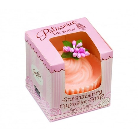 Pâtisserie de Bain Strawberry Cupcake Soap (120gr)