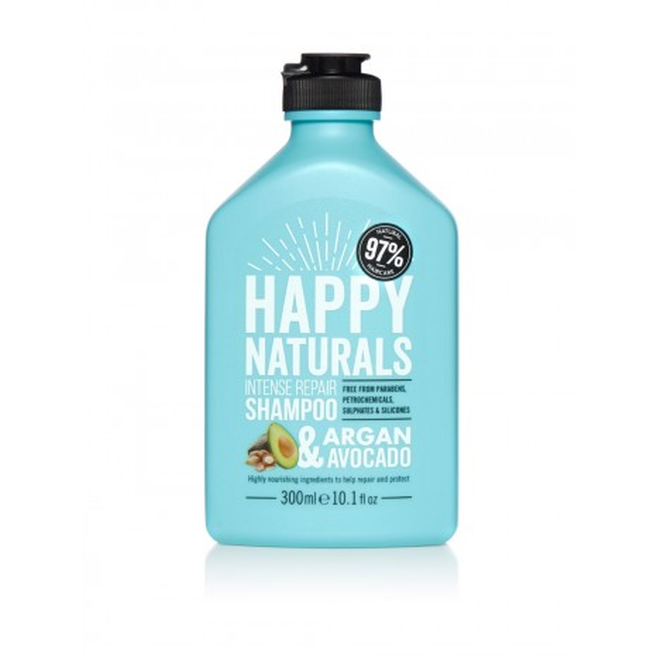 Happy Naturals Argan & Avocado Intense Repair Shampoo (300ml)