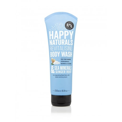 Happy Naturals Sea Minerals & Ginger Root Revitalising Body Wash (250ml)