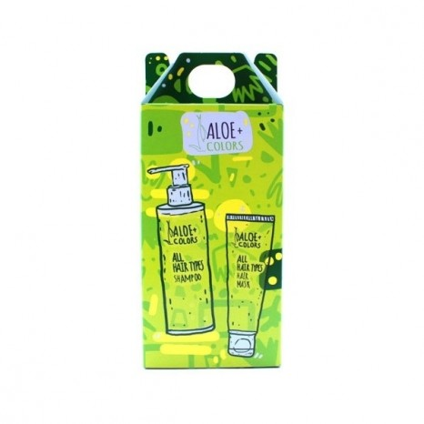 Aloe+ Colors - All Hair Types Set (Shampoo 250ml & Mask 250ml)
