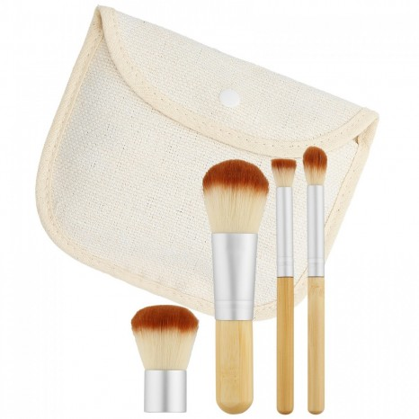 Tools for Beauty - 4Pcs Bamboo Makeup Brush Set