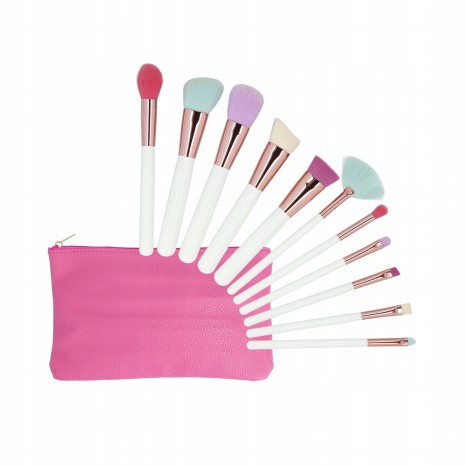 Tools for Beauty - 11Pcs Makeup Brush Set With Case - Multicolor