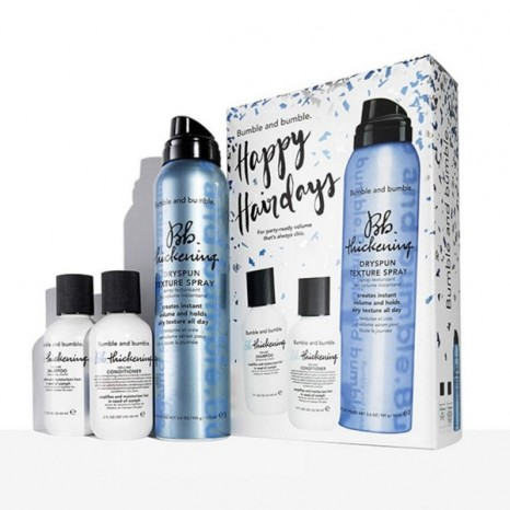 Bumble & bumble - Happy Hairdays Thickening Hair Care Set (Shampoo 60ml, Conditioner 60ml & DrySpun Finish Spray 150ml)