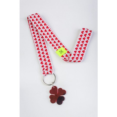 Add Style - Lanyard Hearts - Mirror Red