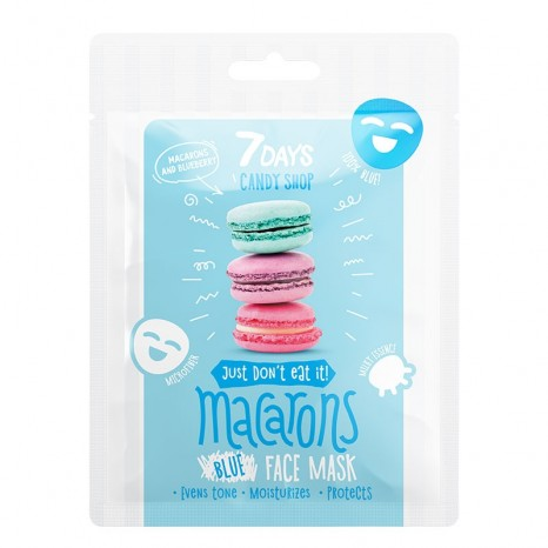 7DAYS Candy Shop - Macarons Sheet Mask (25gr)