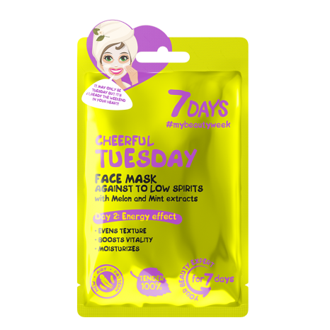 7DAYS Cheerful Tuesday Sheet Mask (28gr)