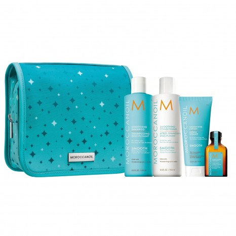 Moroccanoil Smooth Holiday Set (Shampoo 250ml, Conditioner 250ml, Lotion 75ml & Oil Treatment 25ml)