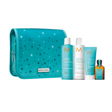 Moroccanoil Hydration Holiday Set (Shampoo 250ml, Conditioner 250ml, Intense Hydrating Mask 75ml & Oil Treatment 25ml)