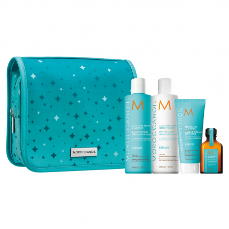 Moroccanoil Repair Holiday Set (Shampoo 250ml, Conditioner 250ml, Restorative Hair Mask 75ml & Oil Treatment 25ml)