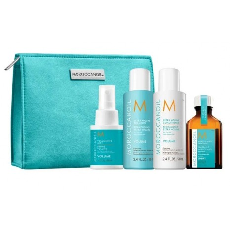 Moroccanoil Volume On The Go Travel Set (Shampoo 70ml, Conditioner 70ml, Volumizing Mist 50ml & Oil Treatment Light 25ml)