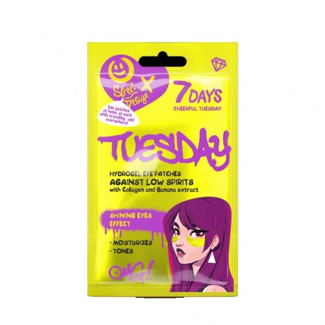7DAYS Hydrogel Eye Patches - CHEERFUL TUESDAY with Collagen & Banana Extract (2.5gr)