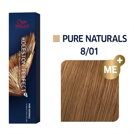 Wella Professionals Koleston Perfect Me+ Pure Naturals 8/01 - Ξανθό Ανοιχτό Φυσικό Σαντρέ (60ml)
