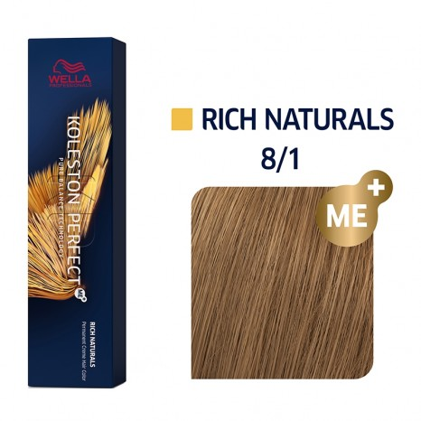 Wella Professionals Koleston Perfect Me+ Rich Naturals 8/1 - Ξανθό Ανοιχτό Σαντρέ (60ml)