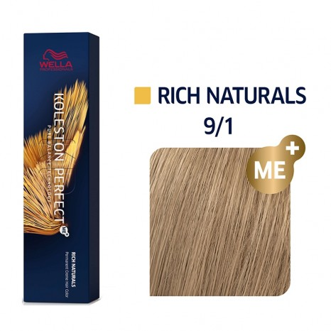 Wella Professionals Koleston Perfect Me+ Rich Naturals 9/1 - Ξανθό Πολύ Ανοιχτό Σαντρέ (60ml)