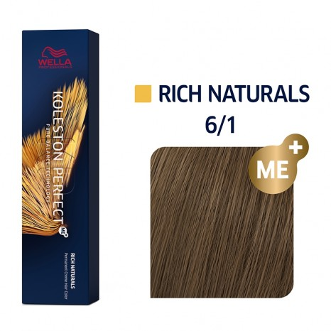 Wella Professionals Koleston Perfect Me+ Rich Naturals 6/1 - Ξανθό Σκούρο Σαντρέ (60ml)