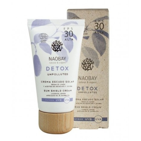 Naobay Natural & Organic Detox - Sun Shield Cream SPF30 (30ml)