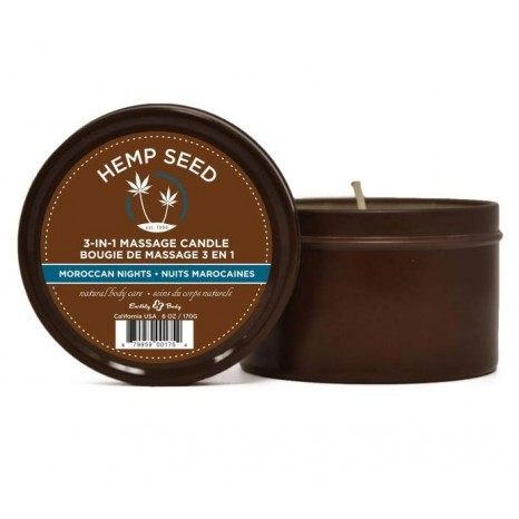 Marrakesh Hemp Seed 3-in-1 Massage Candle Moroccan Nights (170gr)
