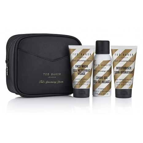 Ted Baker Travel Wash Bag (Face Wash 75ml, Shave Gel 75ml, Moistruriser 75ml)