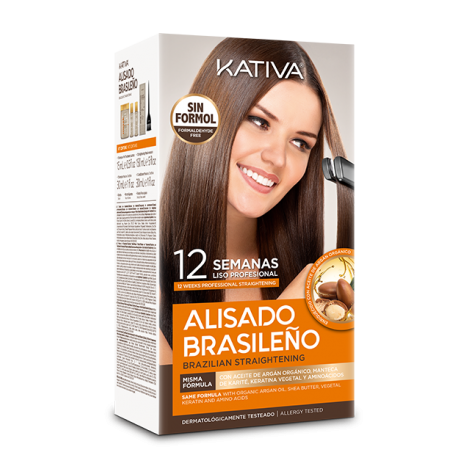 Kativa Alisado Brasileno Straightening Kit (Shampoo 35ml, Conditioner 35ml & Mask 100ml)