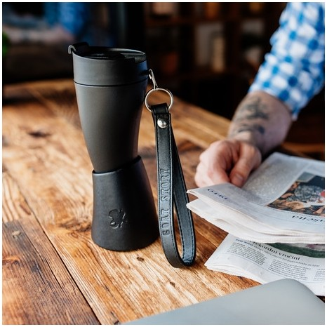 Goat Story Mug Black Real Leather (350ml)