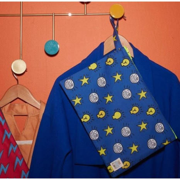 Bleecker & Love Cotton Bag Glimpse Blue Small