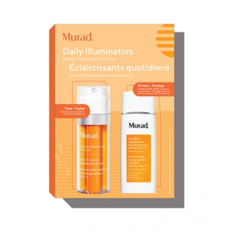 Murad Daily Illuminators (Vita-C Glycolic Brightening Serum 30ml & City Skin Age Defense Broad Spectrum SPF 50 PA++++ 50ml)