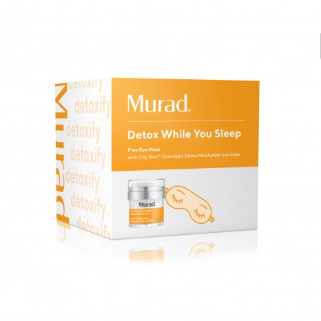 Murad Detox While You Sleep Set (City Skin Overnight Detox Moisturizer 50ml + Gift Sleep Mask)