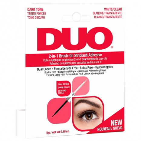 Ardell Duo 2-in-1 Brush-On Striplash Adhesive - White/Clear & Dark Tone (5g)