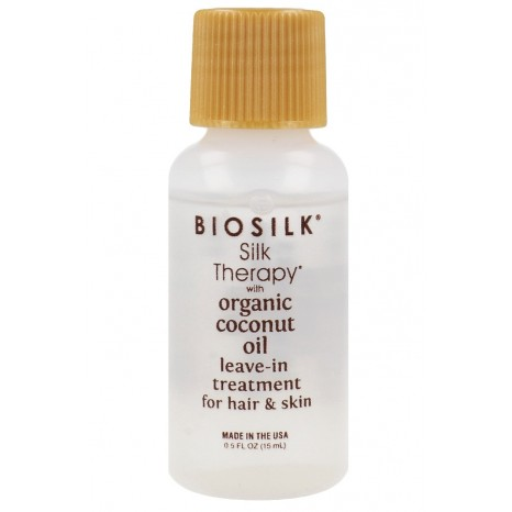 Biosilk - Silk Therapy Organic Coconut Oil Leave-In Treatment for Hair & Skin (15ml)
