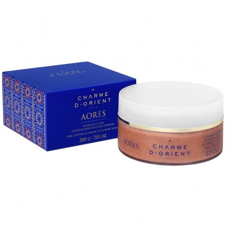Charme d' Orient Body Scrub with Rose Crystals & Argan Shell (200gr)
