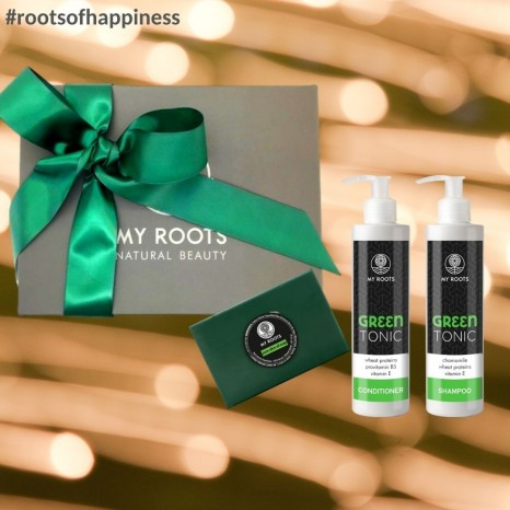 My Roots - Green Tonic Hair Treat & Olive Oil Soap Gift Set