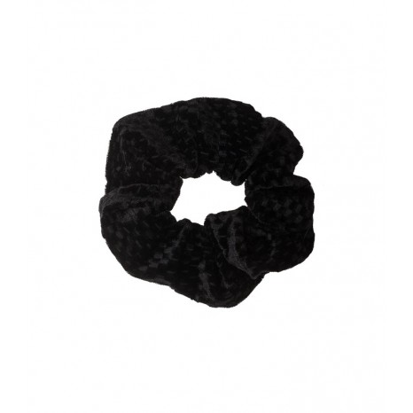 Petit Boutik - Μαύρα Τετράγωνα Βελούδινο Scrunchie