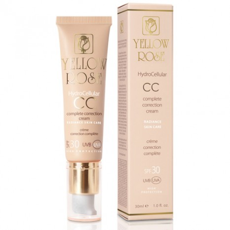 Yellow Rose Hydrocellular CC Cream SPF 30 (UVA/UVB) Medium (30ml)