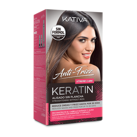 Keratin Alisado Anti Frizz Xtreme Care Kit (Shampoo 30ml & Conditioner 30ml & Mask 150ml)