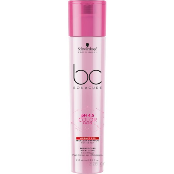 Schwarzkopf Professional BC Bonacure pH 4.5 Color Freeze Vibrant Red Micellar Shampoo (250ml)