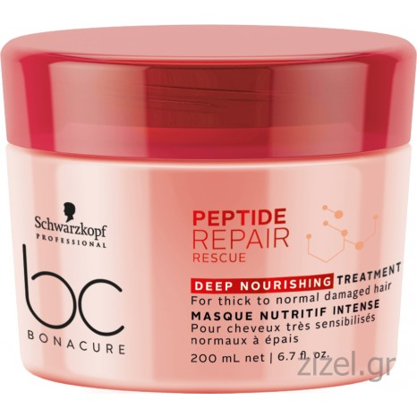 Schwarzkopf Professional BC Bonacure Peptide Repair Rescue Deep Nourishing Treatment (200ml)