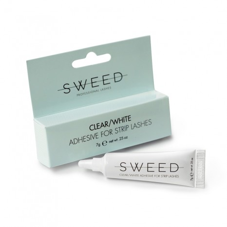 Sweed Lashes - Adhesive for Strip Lashes Clear / White (10gr)