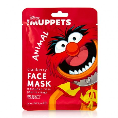 Mad Beauty Disney The Muppets Animal Cranberry Face Mask (25ml)