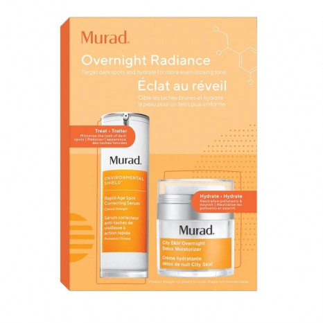 Murad Overnight Radiance Value Set (Rapid Age Spot Correcting Serum 30ml & City Skin Overnight Detox Moisturizer 50ml)