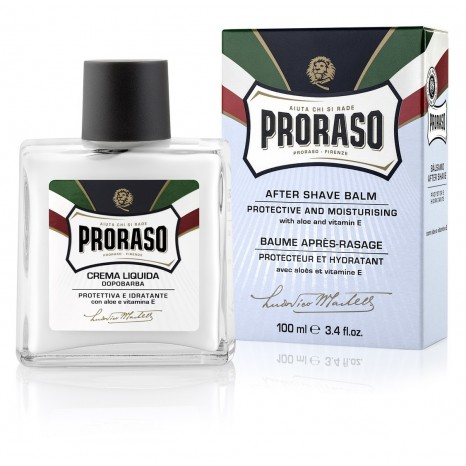 Proraso Blue AfterShave Balm Protective & Moisturising With Aloe & Vitamin (100ml)
