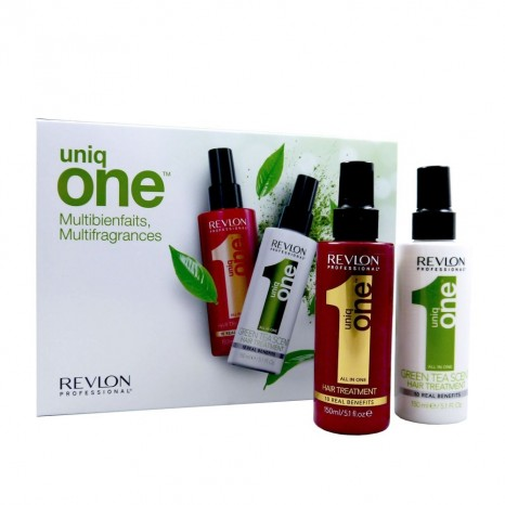 Uniq One All in One Hair Treatment Set (Classic 150ml & Green Tea 150ml)