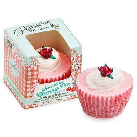 Pâtisserie de Bain Sweet As Cherry Pie Cupcake Soap (120gr)